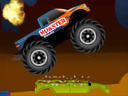 Select your favorite monster truck and start race through the obstacle course without crashing.