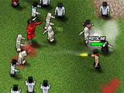 Boxhead: The Zombie Wars is the 5th game in the series. It comes with new graphics, new enemies (lots of them) and Zombie Wars brings a new feature to the series, now you can construct your own base with turrets and barricades. In this mode you will be required to keep your base operational at all times otherwise the might of the Zombies and there allies will crush you. Movement: ?the arrow keys?, Shoot: ?Space bar?, Next/Prev Weapon: ?Z?/?X?, Pause: ?P?, Select weapon directly: ?Number Keys?.
