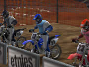 Race against the opponents and try to become the ultimate motor bike champion in motocross game Braap Braap. Race your bike for one lap, collect the bonus items on the track, beat all your opponents and try to reach the finish line as quickly as possible to score higher points. You can earn bonus points by doing tricks and stunts while in air. Do not crash your bike otherwise you will earn penalty. Use up arrow for throttle, down arrow for brake, left and right arrows to steer, hold the spacebar button before a jump to increase energy and release it as you go off the jump to get more air time, and press Z, X, and C keys to do stunts in air.
