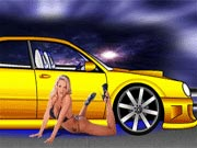 Choose your favorite car from Acura RSX, Escalade, Honda Civic, BMW M3, Chevrolet Cavalier, Subaru WRX, Acura Integra, Mitsubishi Eclipse, Honda CRX, and many more and start customizing your ride to make it more powerful and amazing. Select from backgrounds, hot girls, rims, colors, heights, hoods, wheel sizes, lights, exhausts, neons, tilts, roll cages, interiors, coil-overs, front lips, side skirts, back skirts, spoilers, WBK, and other details and customize the car as per your need. You can add some cool stickers on the car too.
