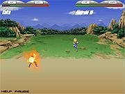 Choose your favorite Dragon Ball Z hero and fight against the enemies in a do or die death match to prove who the real champion is. Choose your hero from Goku, Piccolo, or Vegeta and then pick your opponent from Android 18, Cell, or Captain Ginyu to start fighting. You may not be able to select all the characters until you defeat some enemies. Use arrow keys to move, press spacebar to jump, W key to jump kick, E to power up, F to toggle fly, A for special attack, S to kick, and D to punch. Avoid all your enemy