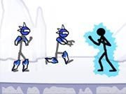 Fight in the tournament of voltagen and beat every one of your opponents to become the ultimate champion in the stick man universe. You can use any combination of attacks like martial arts, street fighting, or even your superhuman attacks to defeat your opponents. Use left and right arrow keys to move, down arrow to dodge, A to punch, S to kick, and D to grab. You can also use some slow motion attacks which are more powerful than the normal attacks, but they consume battery power. Use Q for slow motion punch, W for slow motion kick, E for slow motion grab, and press D while running for flip over throw.