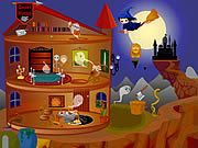 Make your hilltop home as scary as possible in the house decoration game Halloween House Makeover 2.Tonight is the Halloween night and you have to transform your house into a horror castle. The full moon is dazzling in the sky and the ambiance around your house is also somewhat creepy. Arrange windows, ghosts, wizard, table, bed, lamp, bookshelf, and other items properly inside and around your house and make your house as frightening as you can. Use your mouse to drag and drop objects to place them.