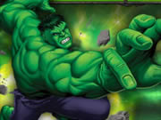 Hundreds of army robots attacked Hulk to tame him and your objective is to destroy as many robots as possible. You can play either the arcade mode where your objective is to score as many points as possible or classic mode where your goal is to hit as many robots as possible in one jump. Press and hold the mouse button to increase Hulk