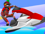 Get on your jet ski and prepare for the rush of 10 extreme levels. Hop over gators, hippos, penguins to hit ramps and do tricks! Grab NOS to speed up through super loops!