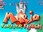 Mario Forever Flash is an incredible flash remake of the classic Mario game with a colorful background. Your mission is to reach the end of each level before the time runs out to continue to the next level. Jump on the enemies to smash them and collect coins to earn bonus points. Hit the question blocks to get bonus items like mushrooms and fire flowers. Use the Z key to jump, down arrow to duck, left and right arrows to walk. You have only three lives so be careful and do not let any of the enemies to touch you.