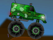 Military Monster Truck Free Game: Hop behind the wheel of a military monster truck and plow through the desert. Switch from high to low gears with the space bar.