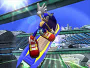 Perform crazy tricks by jumping ramps at just the right time and letting Sonic show off his skills.