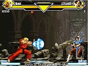 Street Fighter Flash is the flash remake of the classic video game Street Fighter. Choose from 12 awesome fighters like Ken, Dan, Hugo, Barlog, Sagat, Gouki, Chunli, Guile, Ryu, Dalshim, Bison, or Vega and start fighting. Each fight consists of three rounds and whoever wins at least two rounds first win the match. Use left and right arrows to move, up arrow to jump, down arrow to crouch, numpad 1 and 2 for kick, numpad 4 and 5 for punch, and numpad 7 for dash. Use various combo attacks to defeat your enemies and show everyone that you are the ultimate street champion.