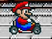 Help Mario to race his kart as fast as possible to run over all the enemies. Select your racer from Mario or Luigi and start racing. Avoid all the obstacles like rocks, etc and run over as many enemies as possible to score points. Do not go very slow else the stronger enemies will block your way and damage the car. Use the up arrow to go up, down arrow to go down, left arrow to turn left, right arrow to turn right, and press A key for nitro boost. The game will be over if your kart breaks down.