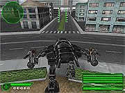 Your objective in Trech 2 is to control the automated T-Rex through the Testa Gordo sector and demolish the enemy tanks, turrets, etc to score as many points as possible in each level. Use the W key or the up arrow to go forward, S key or down arrow to move backward, use the mouse to turn left or right and look up or down, press the left mouse button to fire bullets, click the right mouse button to throw rockets, and press the escape key to free mouse.