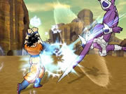 Play this excellent Dragon Ball Z fighting game and beat the evil enemies to win. At the start screen you have to choose the Dragonball Z character that you want to play as and also your enemy, and then choose the difficulty level from easy, medium, and hard to start the fight. You have to select from three heroes (Goku, Piccolu, and Vegeta) and three enemies (Cell, Captain Ginyu, and Android 18) in the game. Use keyboard arrow keys to move, D key to punch, A for special attack, E for power up, W for jump kick, and S for kick.