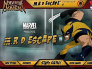 Help Wolverine to escape from the M.R.D. facility using Nitro