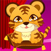 Dress up the cute tiger named Kenny - he is such a fancy baby tiger.