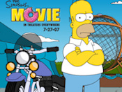 Help Homer collect objects riding his motorcycle in the deathball.