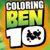 Color the characters of the serie Ben 10.