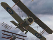 Shoot down enemy aircraft and destroy ground forces to progess. Avoid enemy fire and flying into the ground.