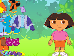 Dora the Explorer is always out there exploring the beautiful places of the world but nothing could get her ready for this particular adventure! She is getting a make up and she will meet her new adventures with a new style, thanks to you! Give Dora a makeover with this dress up challenge and select her new hot clothing items. Give her a nice pair of sunglasses, a cute dress, a neat skirt and blouse pair and choose between a vast array of different shoes and footwear. Help Dora the Explorer get ready for the world, with style.