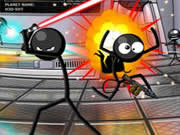 Fight against other stickmen around the world in the multiplayer Stick Arena to become the ultimate stick champion. Your objective is to run around the battle arena to find some weapons and kill the other stickmen around as quickly as you can before they kill you. Use the WASD keys or arrow keys to run around, use mouse to aim and shoot. The game has various weapons (pistol, shotgun, AK-47, samurai sword, baseball bat, and sledge hammer) that you can use to kill your opponents.