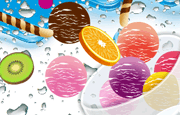 Fruit Ice Cream is a fun simulator where you can enjoy a few minutes of fun creating your own delicious desert. You are taken to a room with a refrigerator filled of goodies, specially ice cream goodies and you can then choose what bowls you will use, if a long or short one, if a glass or an actual ice cream plate. Then you will be free to use your imagination and combine ice cream flavors in delicious looking balls, with pieces of fruits like strawberries and grapes. Put everything looking shiny and delicious and in the end, see the snapshot of the wondrous desert you have created. You will feel like actually eating it!