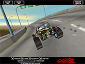 Between buildings on the narrow street, blast your car. This racing game takes the fastest racer as the winner. Ride on!