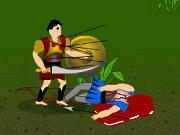 Fight your way through this epic fantasy battle and defeat the enemies to bring peace in your land once again in Warlords Heroes. Battle through all 4 episodes and complete your objectives in each level to progress to the next. Use the WASD keys to move around, use T key to swipe your blade, and Y key to kick your enemies. The game has many characters, several powerful weapons, moves, henchmen and many more. You will be able to hire henchmen to assist you in your quests.