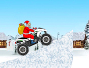 Drive your fourwheeler as Santa. Grab presents and balance yourself without crashing!