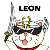Leon is a 1000 year old mythological beast that can also take the form of this cute and crazy cat.