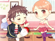 Two adorable girls, one cute boy. Dress up these cuties as he tries to woo each of them. Have fun with their hairstyles, tops, bottoms and other choices. Lots of fun to be had playing Love And Unlove Dress Up!