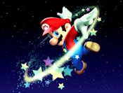 Guide Mario Bill Blaster safely onto the landing platform. Each level gets progressively more difficult as asteroids and other objects will block you from landing safely.