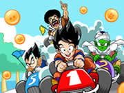 Race as Goku, piccolo, Vegeta, or Mr. Satan is this funky racing game.