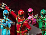 Train with the Power Rangers by completing a series of 5 challenges!
