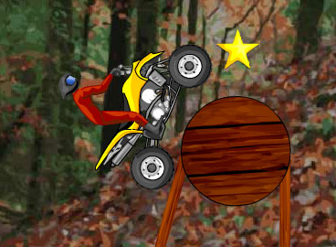 Tilt and lean your quad fourwheeler through 21 levels of obstacles to balance and get over.