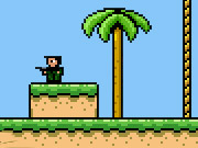 Robin the Mercenary is the sequel to Robin the Archer. This time, Robin is equipped with a machine gun and there is new bugs and new weapons and new powerups to choose from. Collect enough coins to buy a jetpack even! Take control of this little Mercenary using the keyboard, ASDW control Robins movement, J button for jumping, K shoots, P to pause, and M mutes the sound. This game is similar to the classic mario style with the added feature of shooting the enemies. Explore each level from top to bottom collection coins that can be used to buy power-ups at the end of each level. You are given a number of hearts at the start of each level which determine your health. Each time you are hit you lose a heart, if all your hearts are gone you must restart the level. The goal is to kill all of the enemies on the screen while collecting a star in each level to complete the game. The enemies are spawned from black boxes, and you must destroy the black box to finish the level. Good luck and remember to spend your upgrade points wisely.