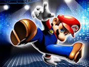 Dress Mario up. Pick from multiple hats, overalls, shirts, gloves, shoes, and more things to stick on this poor plumber.