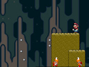 This is a great Super Mario game! Mario has a gun he uses to shoot the enemies, with great music in the background.